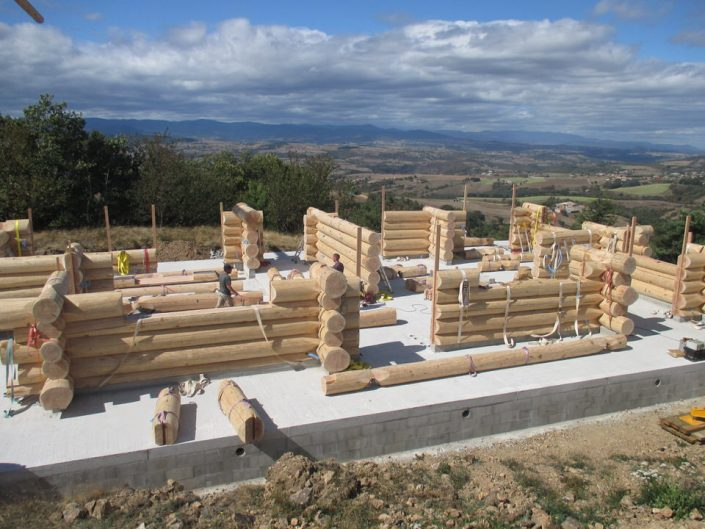 Maison rondins gros bois 3