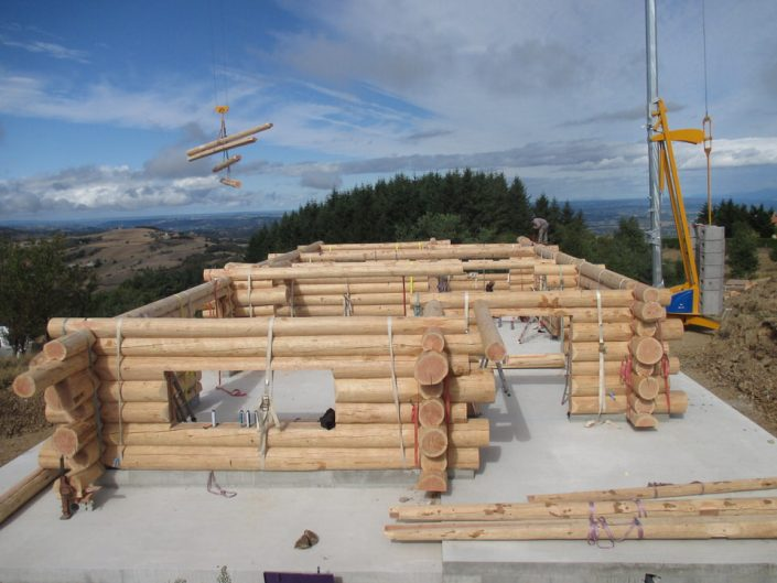 Maison rondins gros bois 9