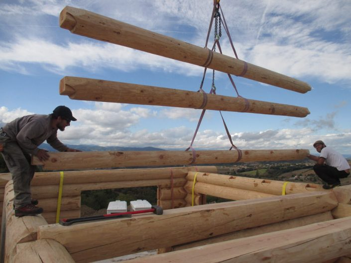 Maison rondins gros bois 10
