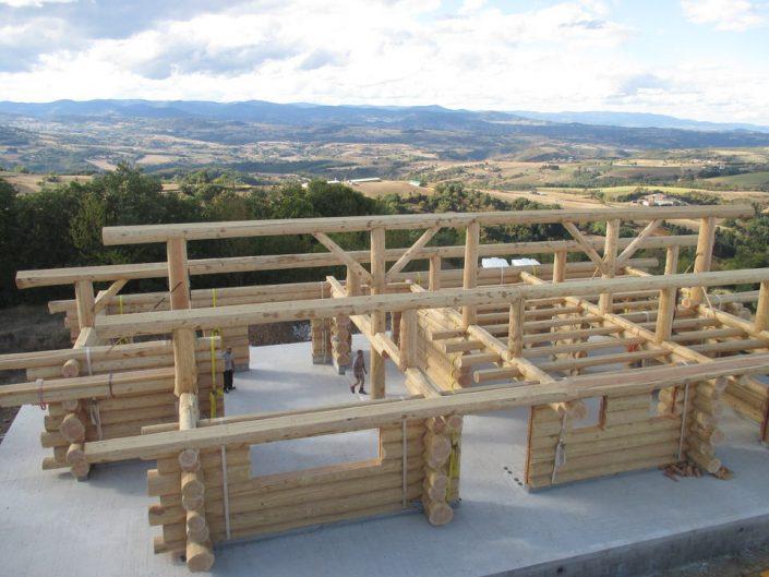 Maison rondins gros bois 15