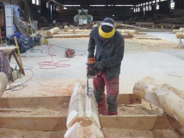 Maisons en Rondins en Corse Travail en cours