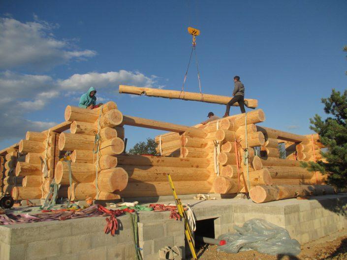 Maison rondins gros bois 6
