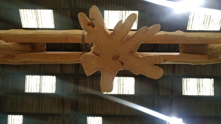 gros fuste Ardèche en construction